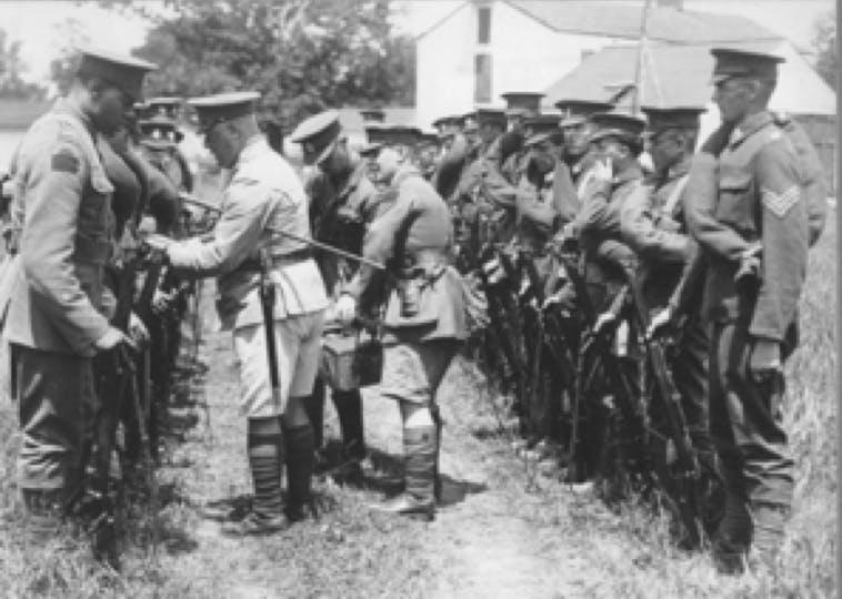 Henry Shepherd (left) at camp in Niagara, 1928