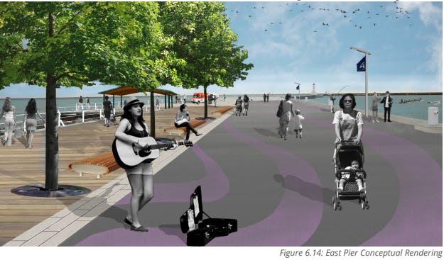 Figure 6.14   East Pier Conceptual Rendering
