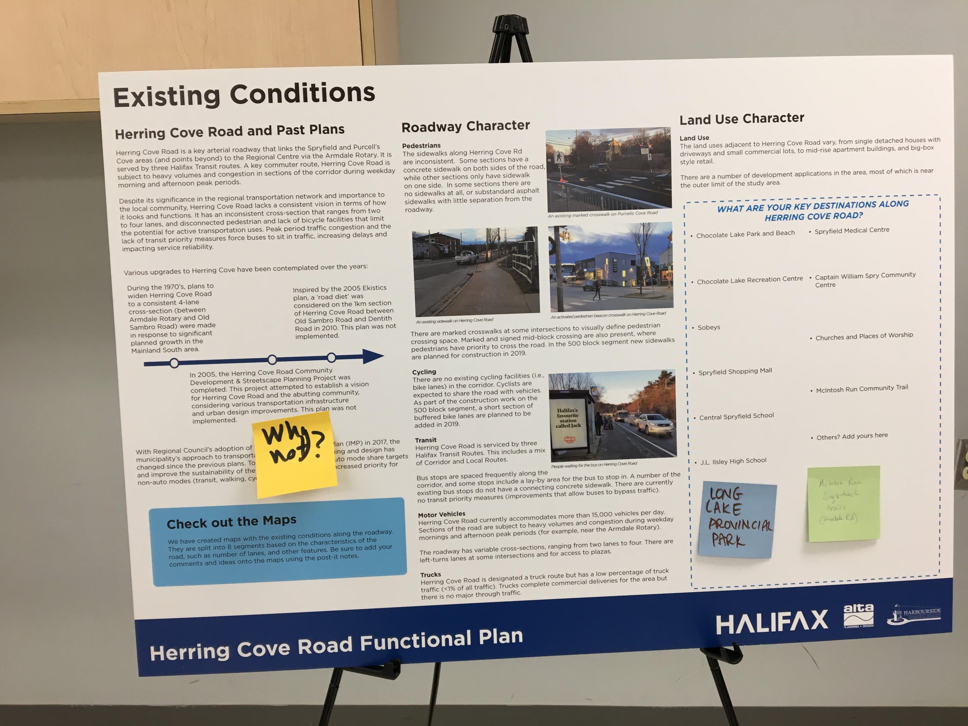 Herring Cove Road Open House Presentation Board 2