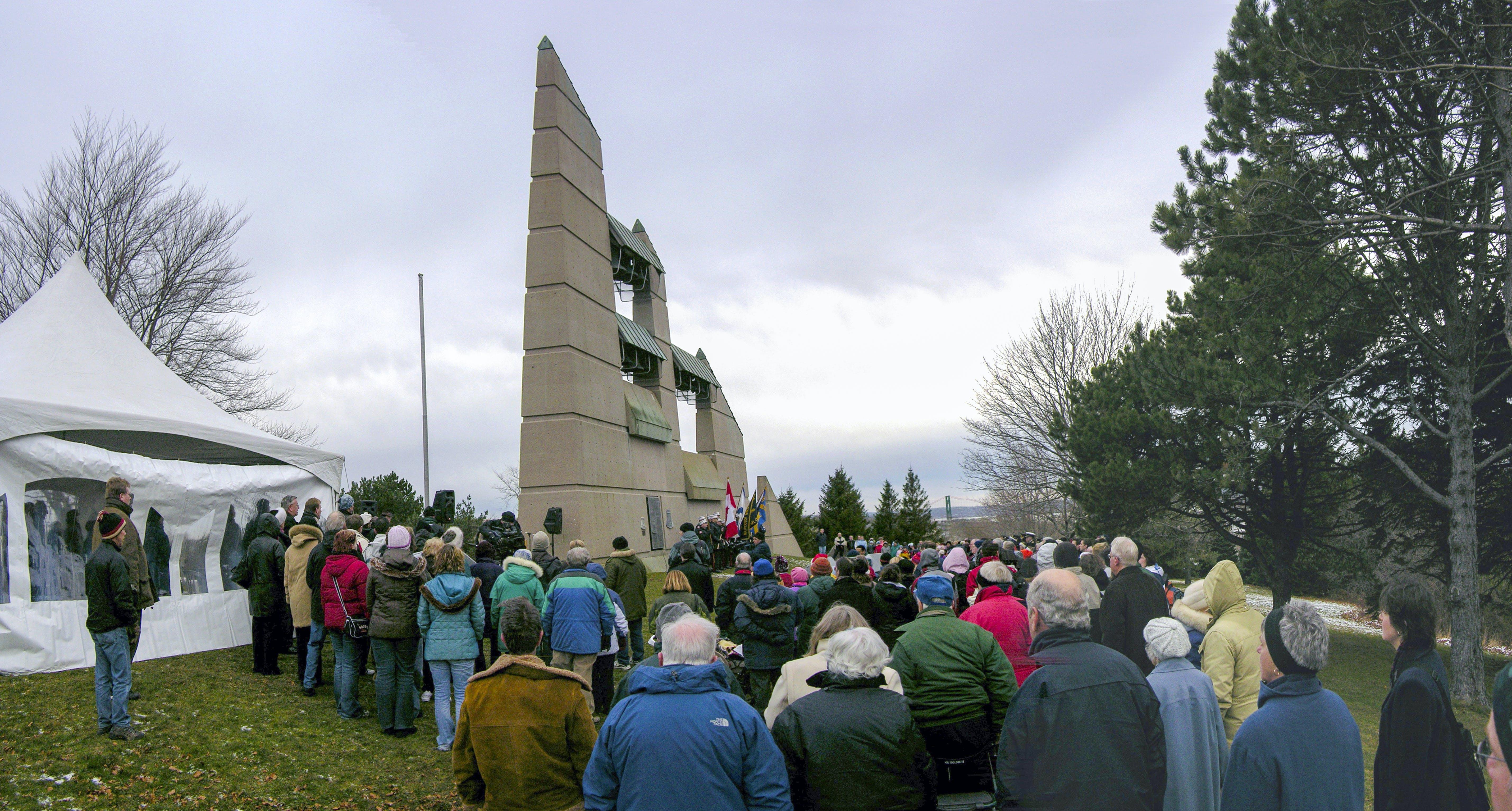 Memorial event, Fort Needham Memorial Park