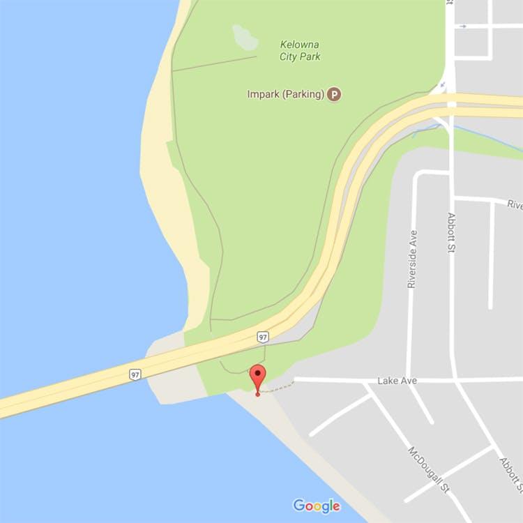 Lake Avenue Beach Access Location