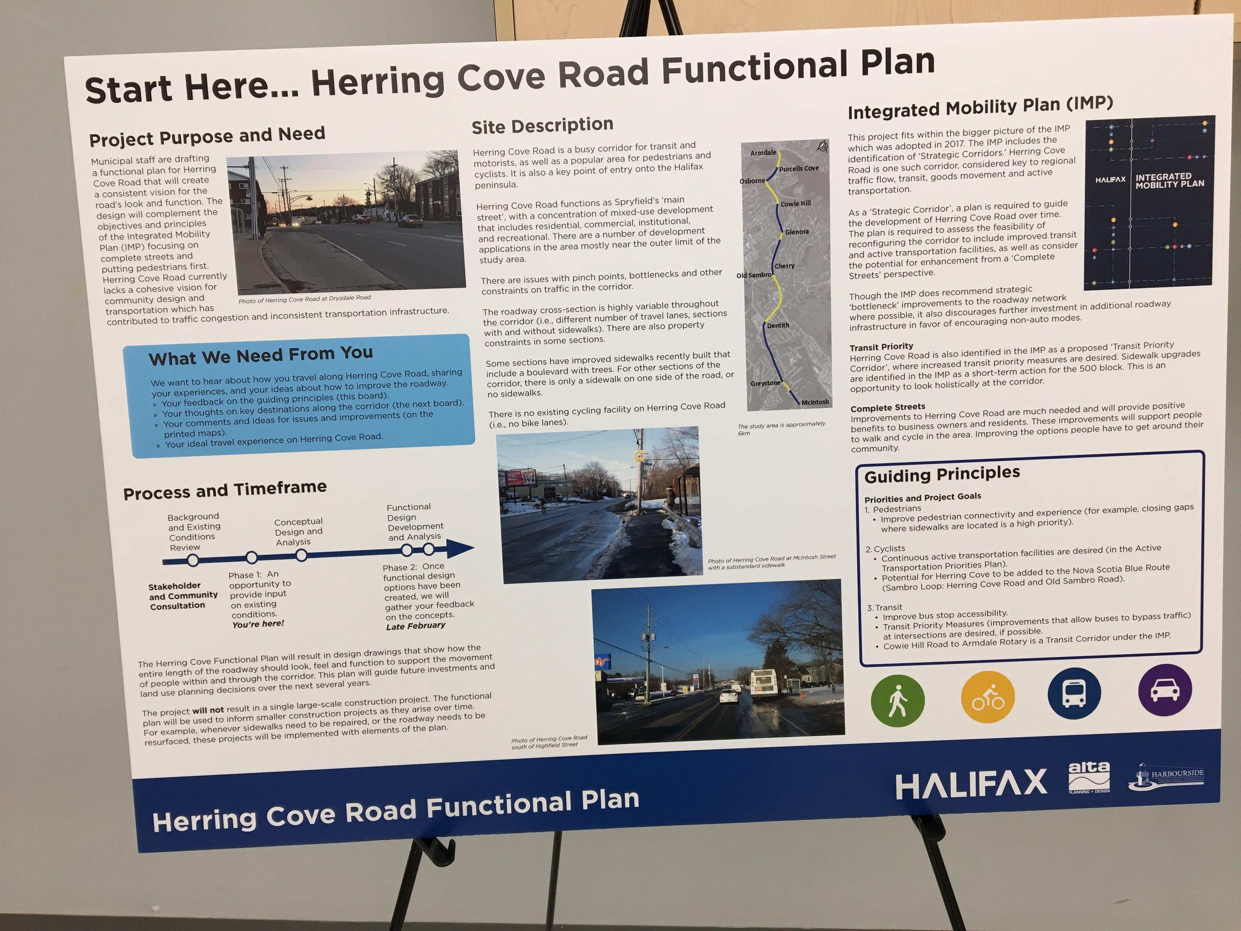 Herring Cove Road Open House Presentation Board