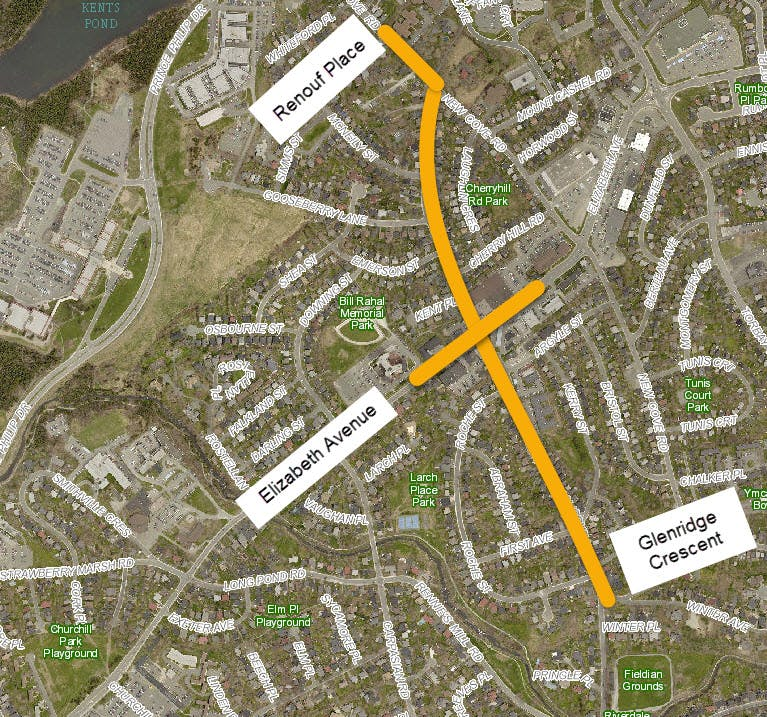 Portugal Cove Road   Renouf Place To Glenridge Cres May 2019