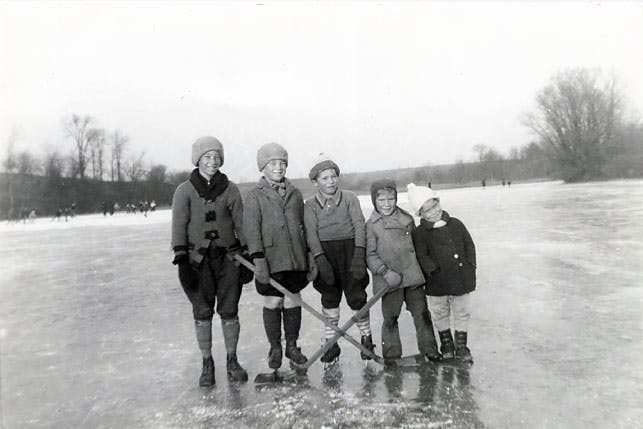 Hockey on the Credit River, 1938