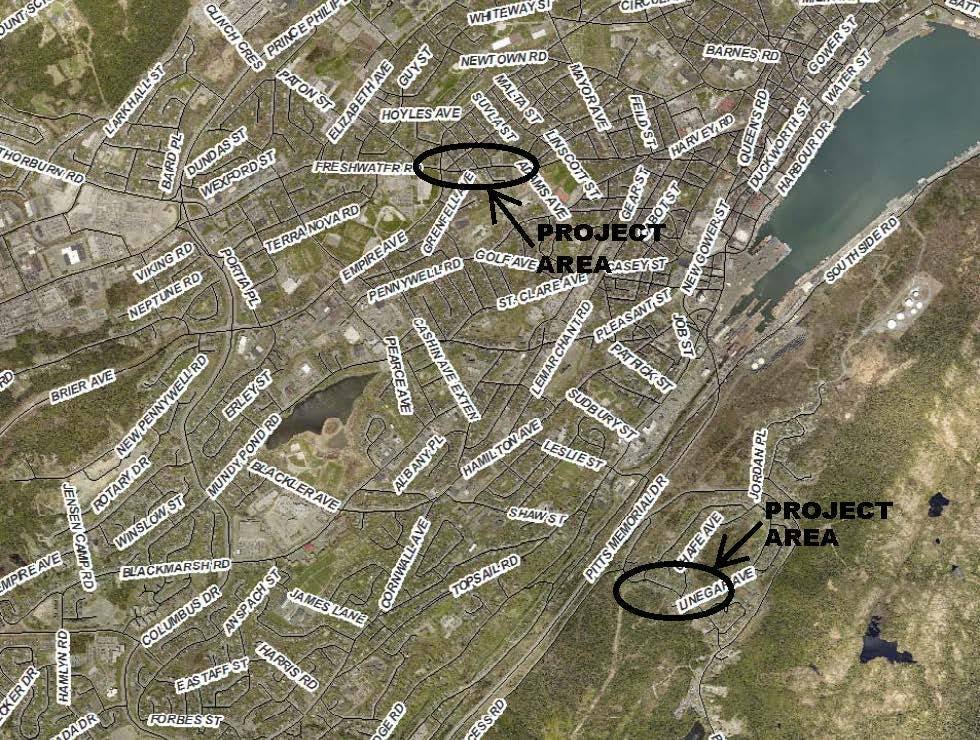 Site Map - Project Areas