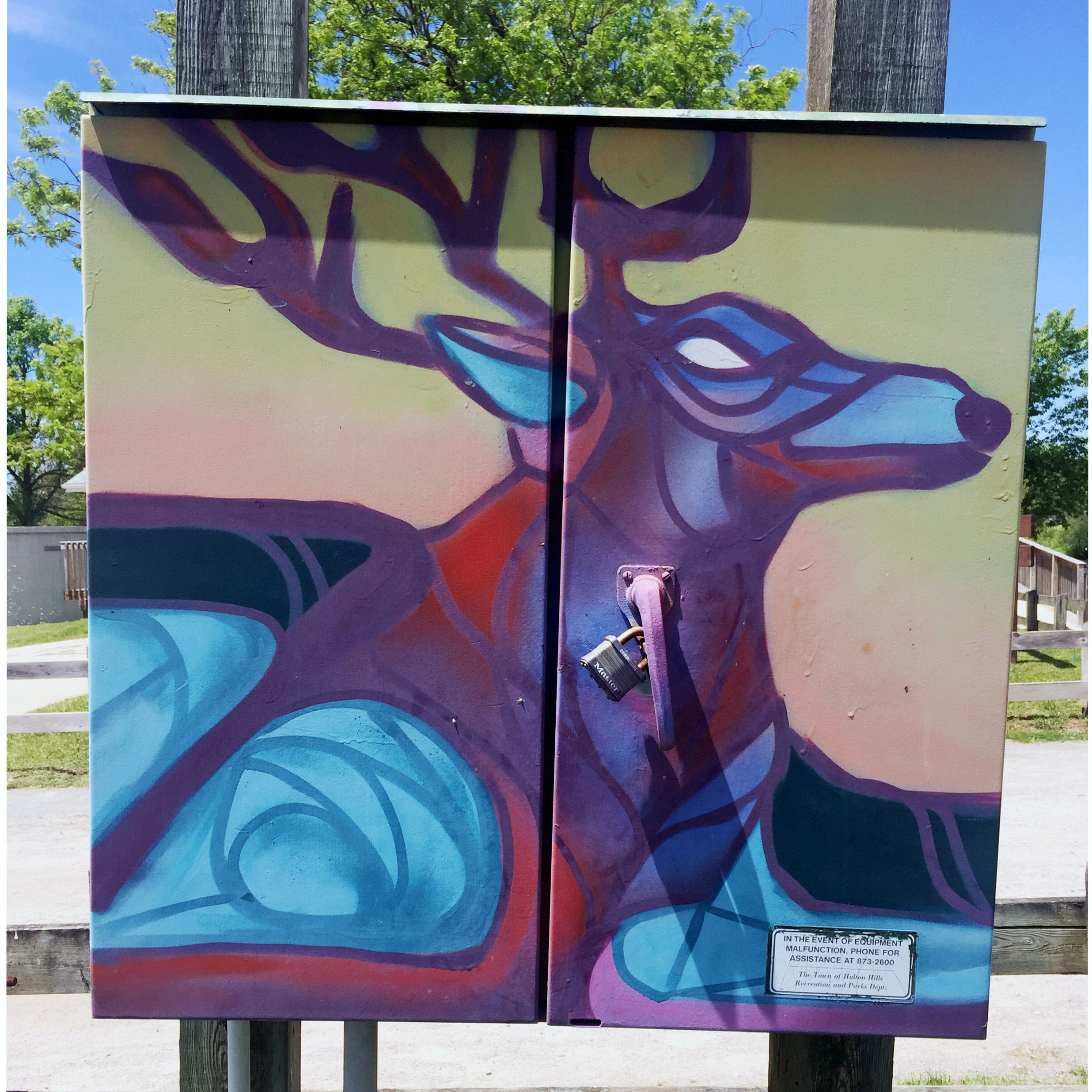 Graffiti Murals on Utility Boxes