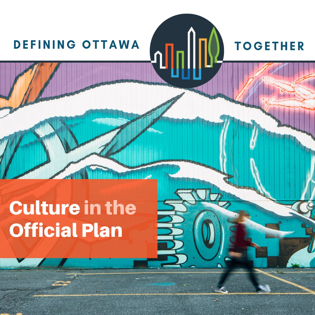 Text saying Defining Ottawa Together with a logo