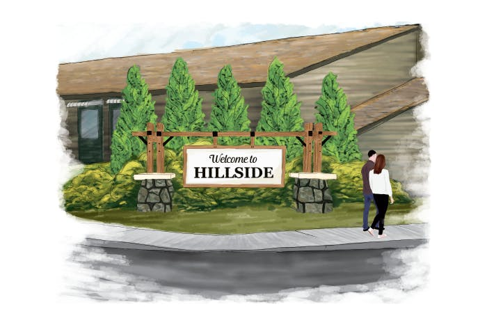 Illustration of an entrance feature. This is an example illustration and not the proposed design.