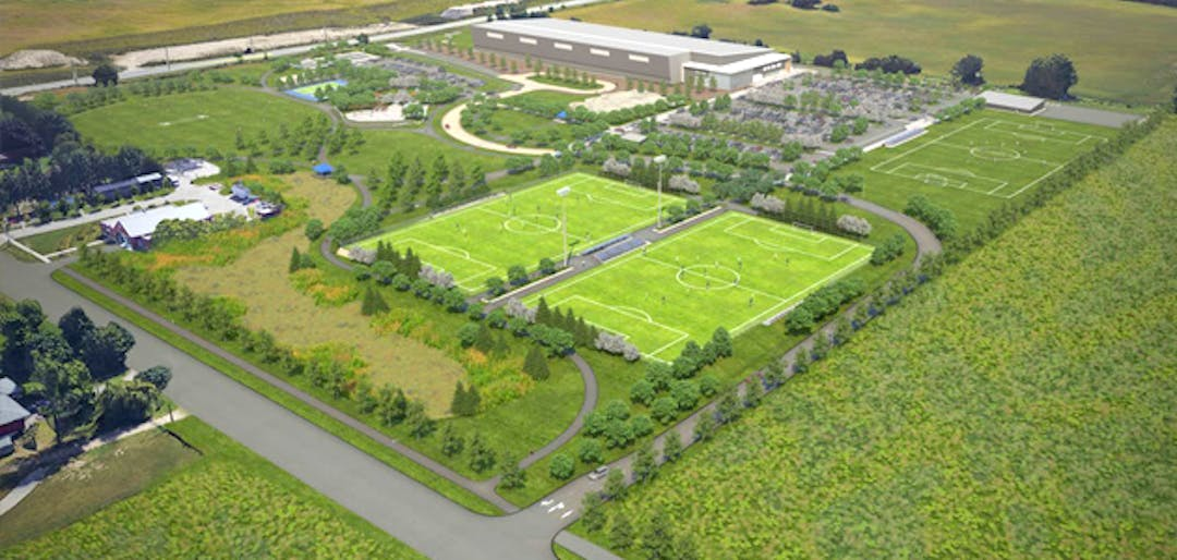 Future home of RBJ Schlegel Park - Image showing three dimensional rendering of the park once complete