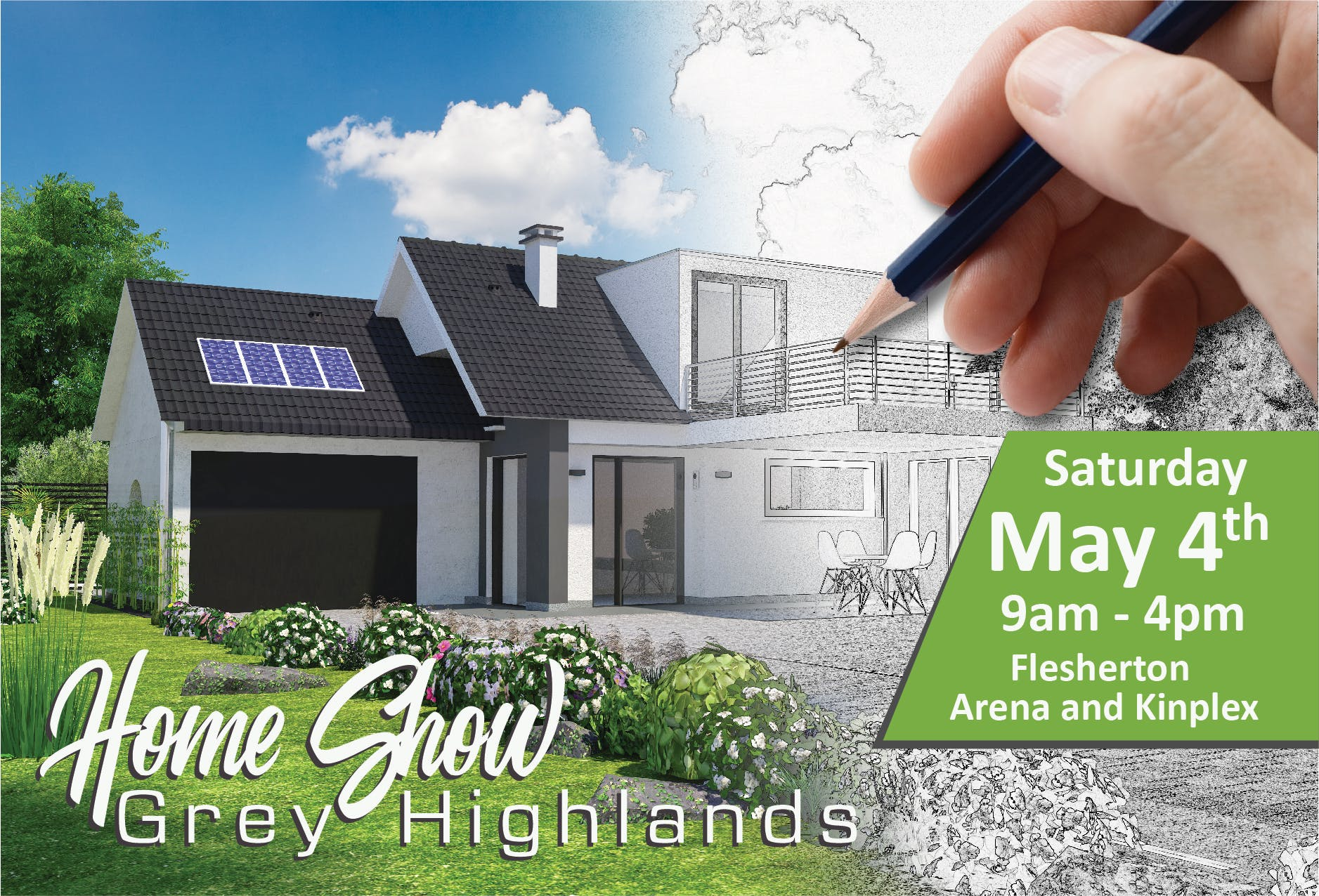Grey Highlands second annual Home Show it set to take place Saturday May 4, 2019 at the Flesherton Arena and Kinplex.  The show will run from 9:00 am until 4:00 pm.