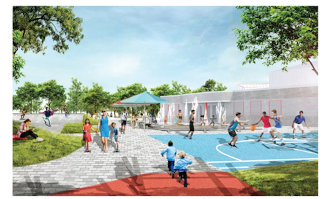 Picture of park improvements at Albert McCormick Community Centre