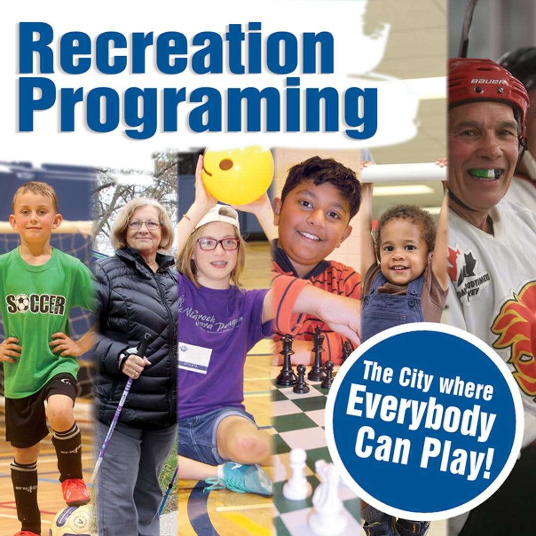 Multiple photos of participants engaging in St. Catharines recreation programs.