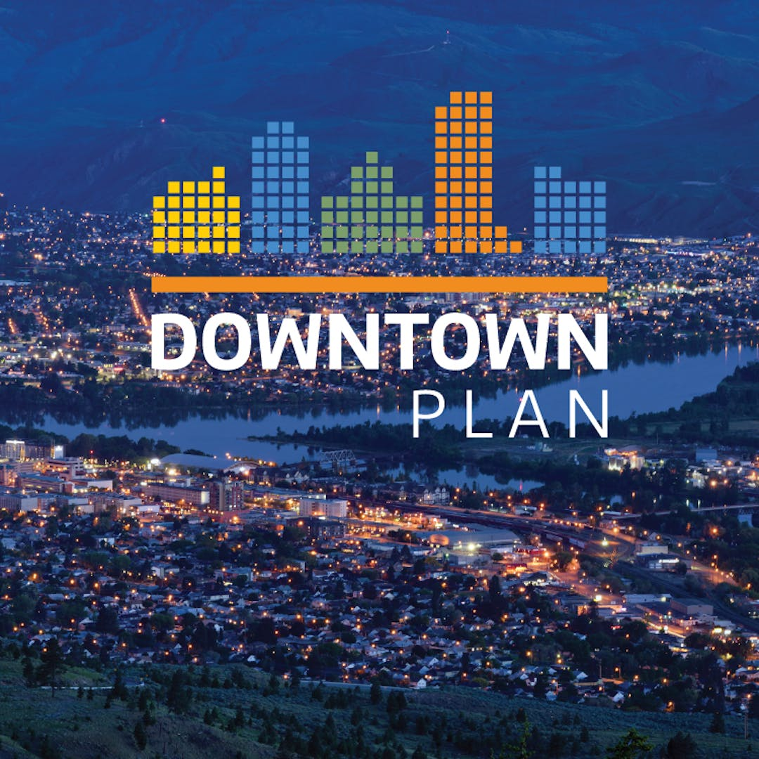 Image of the City of Kamloops at dusk