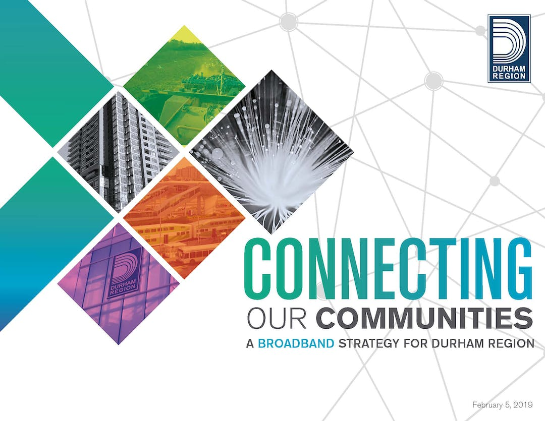 Cover page of Durham Region Broadband Strategy, February 5, 2019