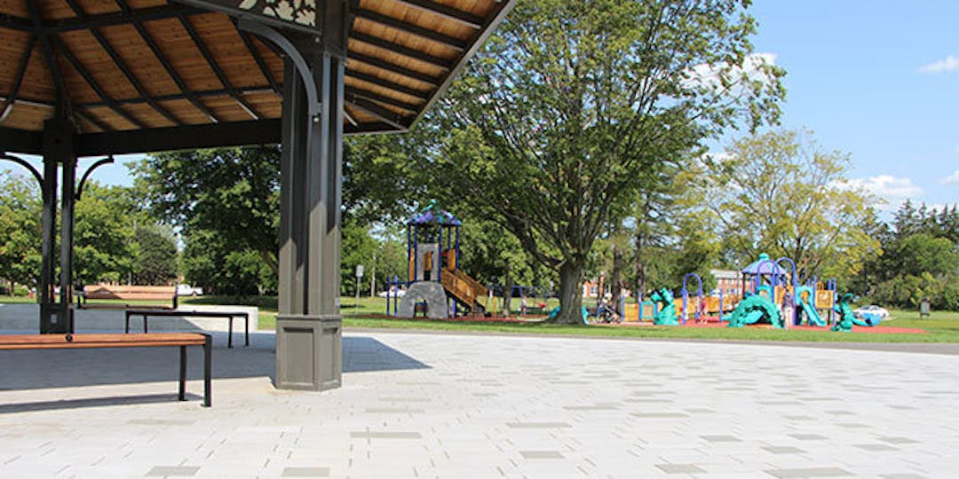 The Burloak Waterfront Park improvements include adding accessible gazebos, benches, picnic tables and parking to the existing path and playground.