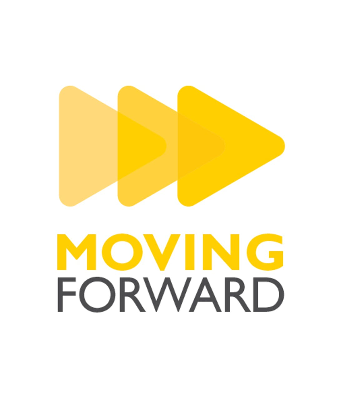 A logo that says Moving Forward