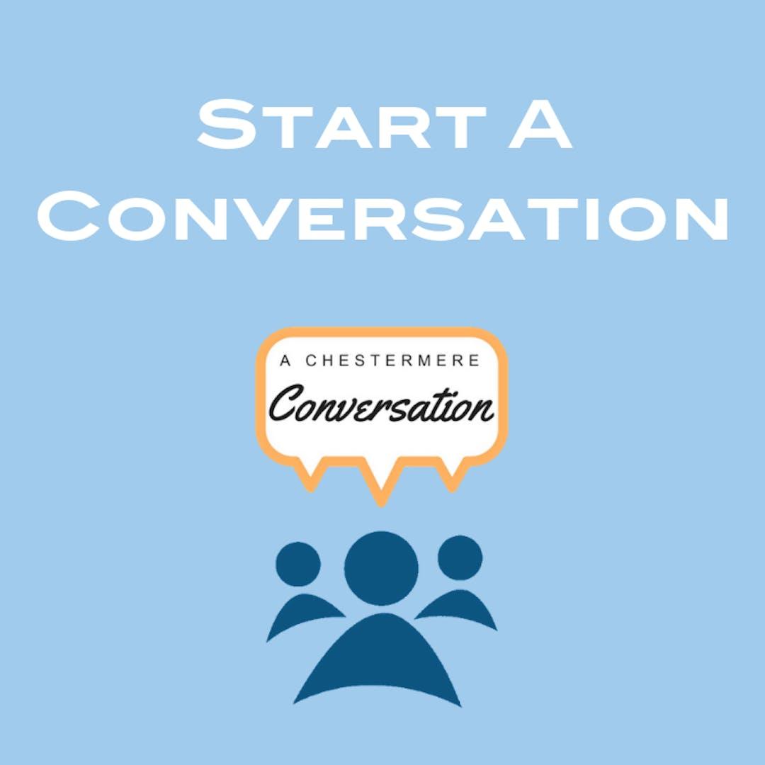 Start a conversation box