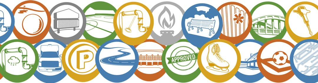 Icons representing the various services provided by the City of Kitchener.