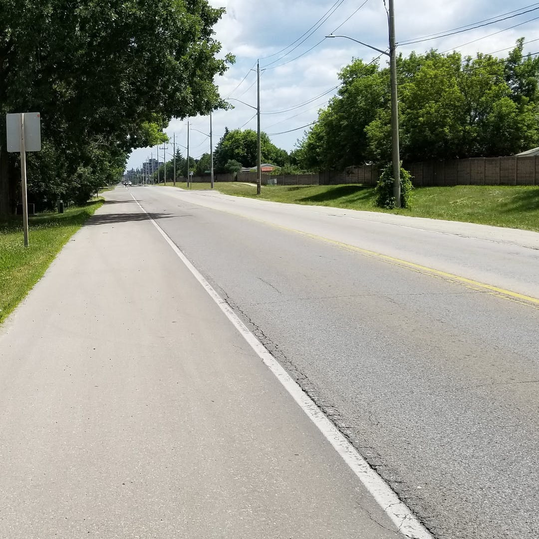 Photo showing the existing laoyut of Myers Road