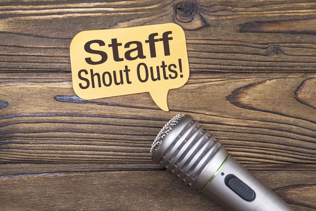 Staff shout outs   project image