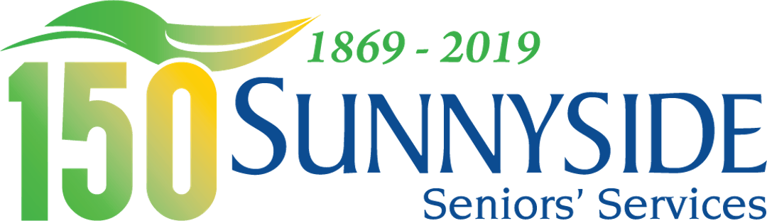 Image reading 150 Sunnyside Seniors Services with additional text of 1869-2019