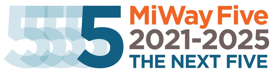 MiWay Five 2021-2025 The Next Five Blue and Orange logo