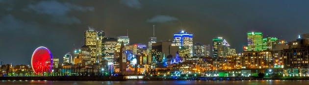 Montreal at night